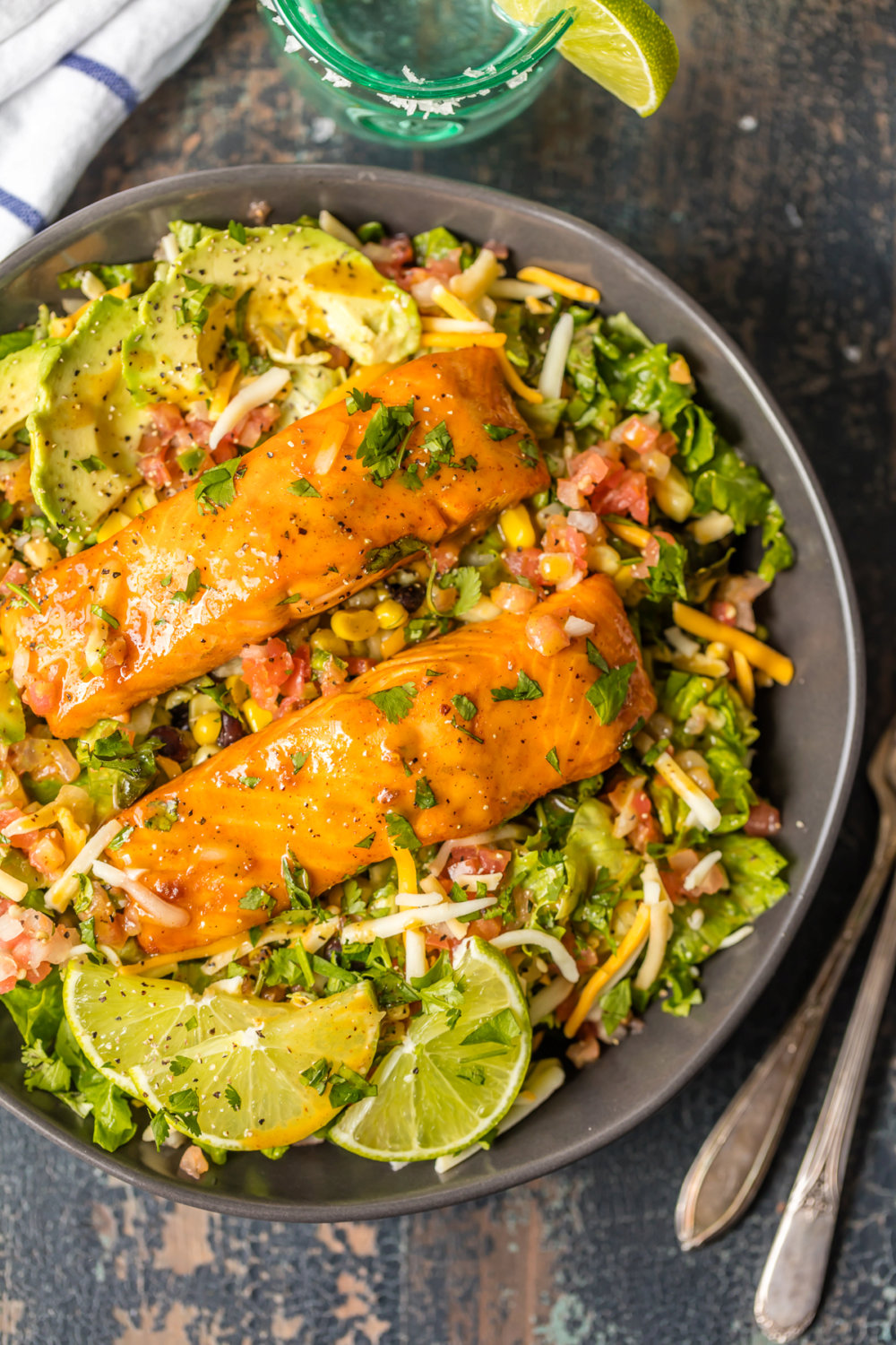 Tequila Lime Salmon Salad